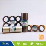 Clara y Brown adhesiva de BOPP cinta de embalaje para el lacre del cartón