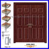 Porte en bois simple de pièce de forces de défense principale