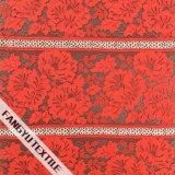 Tessuto Colourful del merletto del poliestere di disegno del fiore