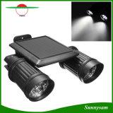 Regelbare Dubbele Lamp 14 van de Veiligheid van Hoofden van de Schijnwerper LEDs het Openlucht Zonne Aangedreven Licht van de Muur van de Sensor van de pir- Motie