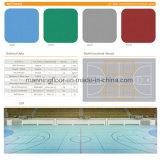 녹색 공 패턴 5mm 간격 테니스 배드민턴을%s 싼 가격 비닐 마루 갯솜 지면