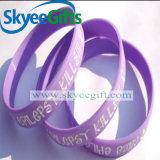 Bracelets de logo en silicone personnalisés pour cadeau promotionnel