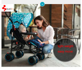 Rostfreies Steell Gewebe-Licht-beweglicher Baby-Spaziergänger-Baby-Buggy-BabyPram