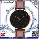 Las atmósferas de la aleación 3 del estilo de Yxl-477 Dw impermeabilizan el reloj japonés de la aduana de la venda del cuero genuino de la caja de acero inoxidable del movimiento de Miyota de los hombres del reloj