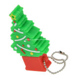 Azionamento dell'istantaneo del USB di natale del USB Pendrive del PVC della Santa del regalo di promozione