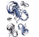 Etiqueta engomada temporal impermeable del tatuaje del modelo de moda del escorpión