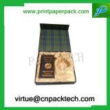 Rectángulo de regalo de encargo impreso lujo de la cartulina para el empaquetado de /Cosmetic del vino