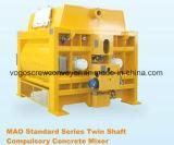 Mezclador concreto del eje gemelo de Sicoma para la planta de procesamiento por lotes por lotes