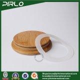 300ml 10oz effacent le choc en verre de Borosilicate avec le choc sec vide scellé en verre de mémoire de biscuit de nourriture de diamètre en bois en bambou du couvercle 65mm