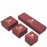 Ringtrinket-Armband-Schmucksache-Kasten mit dem heißen Stempeln (J39-E)