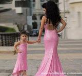 Sequins 당 Prom는 가족 어머니 소녀 야회복 Mc17를 가운을 입는다