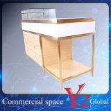 陳列台(YZ161708)の飾り戸棚の陳列だなのステンレス鋼の陳列ケースの表示棚の表示ショーケース展覧会のキャビネットの店のカウンター