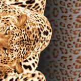 100%PolyesterヒョウのヒョウPigment&Disperseは寝具セットのためのファブリックを印刷した