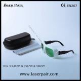O.D3+ @ 630660nm & O.D3+ @ 800830nm & de Bril van de Veiligheid van de Laser van O.D5+ @900-1100nm OTO-4 voor de Rode Laser +905nm, de Laser van 635nm van de Dioden van 980nm met Frame 36