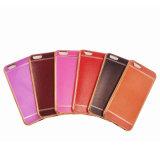iPhoneのアクセサリのための電気めっきのStriae TPUの柔らかい固体携帯電話の箱7/7 Plus/P8ライト(XSDD-066)