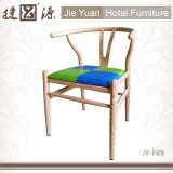 Heller hölzerner Stuhl des Korn-Y Wishbone (JY-F49)