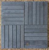 Graues Basalt-Mosaik, Mosaik-Fliese und Stein-Mosaik
