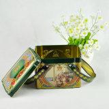 Kundenspezifischer Firmenzeichen-Tee-Zinn-Geschenk-Kasten für Förderung