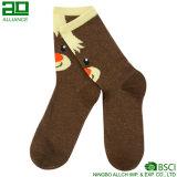 Großhandelsbrown-Weihnachtsmannschafts-Socken