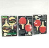 Incandescenza nel mini insieme scuro di ping-pong