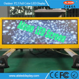 P2.5 Pantalla LED impermeable al aire libre de Taxi Techo