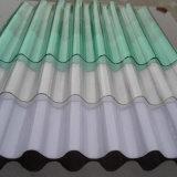 Comitati ondulati del tetto della plastica traslucida di GE Lexan con rivestito UV per la serra