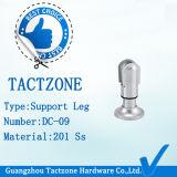 Support réglable en alliage de zinc de support de bonne qualité pour le panneau de partition de toilette