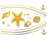 etiqueta engomada temporal impermeable metálica del tatuaje del collar de la manera