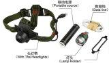Lanterna elétrica leve principal recarregável do USB da multi função com banco da potência