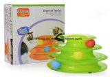 Die neuen drei Schichten der Intelligenz-verrückten Fahrten die Katze-Rollkugel-Katze-Spielzeug-Haustier-Spielwaren
