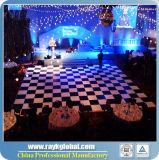 Белая и черная танцевальная площадка для танцевальной площадки сбывания широко используемой для венчания