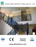 Sicherheits-dekorative bearbeitetes Eisen-Treppe, die mit dem Puder beschichtet ficht