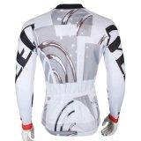 Белая геометрическая просто холодная куртка спортов покрывает втулка Breathable быстро сухой задействуя Джерси людей длинняя
