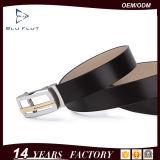 Stattliche Entwurfs-Qualitäts-kundenspezifischer Metallfaltenbildung-Leder-Taillen-Riemen