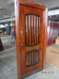 La porte en acier populaire de fer de garantie avec le fini d'enduit de pouvoir, la Chaleur-Tansfer peut personnalisé