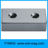 Блок NdFeB магнитный с отверстием винта