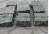 Черные Pavers гранита/базальта/кубическое/кубик/Cobbles/разделение камушков естественное