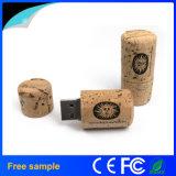 Mecanismo impulsor de destello del USB 2.0 de madera de encargo de la insignia para promocional