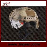 Casco militar Pj de Airsoft del combate táctico rápido del casco de seguridad con el visera claro