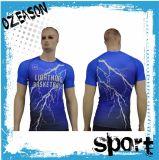 Gute Qualitätspreiswertes Sublimation-Komprimierung-Hemd für Männer (CM003)