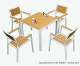 Дешевая самомоднейшая напольная алюминиевая деревянная мебель штанги клуба таблицы и кафа патио стулов