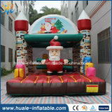 Château sautant, vacances de Joyeux Noël sautant le videur gonflable pour le jeu