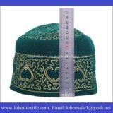 Chapéu muçulmano do Beanie de Vestigio do chapéu do bordado da forma de feltro de lãs