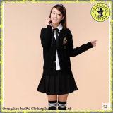 Illustrations uniformes de mode de filles coréennes neuves d'école, échantillon de modèle d'École-Uniforme