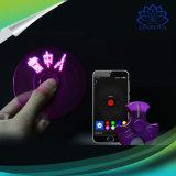 Los juguetes de destello del hilandero de la persona agitada del hilandero del dedo del APP Bluetooth con ABS y electrochapan palabras cambiables
