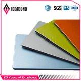 Comitato composito di alluminio del poliestere di Ideabond (AE-38B che fanno pubblicità al colore giallo)