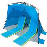 容易な上り浜のデラックスな余暇の海岸の日よけのテント