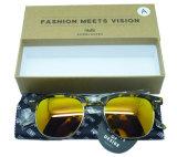 F7044 vendem por atacado vidros de Sun plásticos baratos do estilo de Clubmaster dos óculos de sol da fábrica de Wenzhou