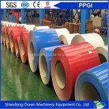 Le bobine galvanizzate preverniciate/colore delle bobine/PPGI dell'acciaio hanno ricoperto le bobine d'acciaio galvanizzate per lo strato del tetto