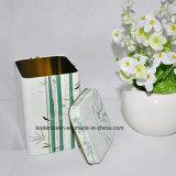 Изготовленный на заказ квадратное олово чая, малая коробка олова чая, коробка олова чая с крышкой